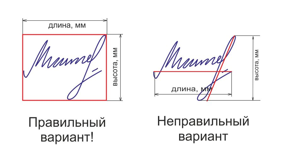 Оттиск подписи факсимиле